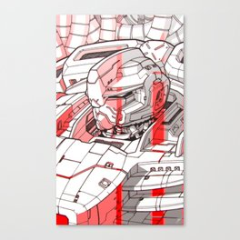 Red Mecha Canvas Print
