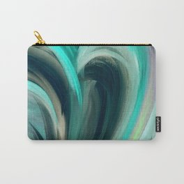 Waves of Coastal Blue Carry-All Pouch