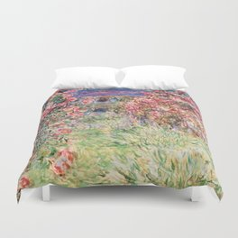"Claude Monet ""House among the Roses"", 1917 - 1919 Duvet Cover"