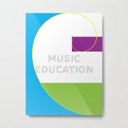 Music Education: Blue Metal Print
