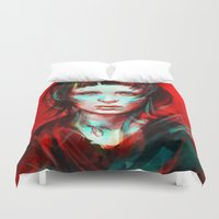 contact Duvet Covers featuring Wasp by Alice X. Zhang