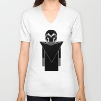 magneto V-neck T-shirts featuring Magneto by Vreckovka