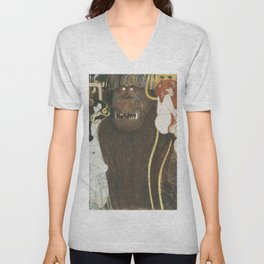 Beethoven Frieze Gustav Klimt Unisex V-Neck