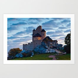 Medieval castle in Bobolice, Poland Art Print