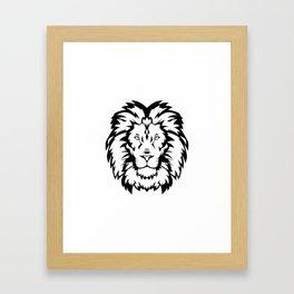Head Wild Cat Framed Art Print