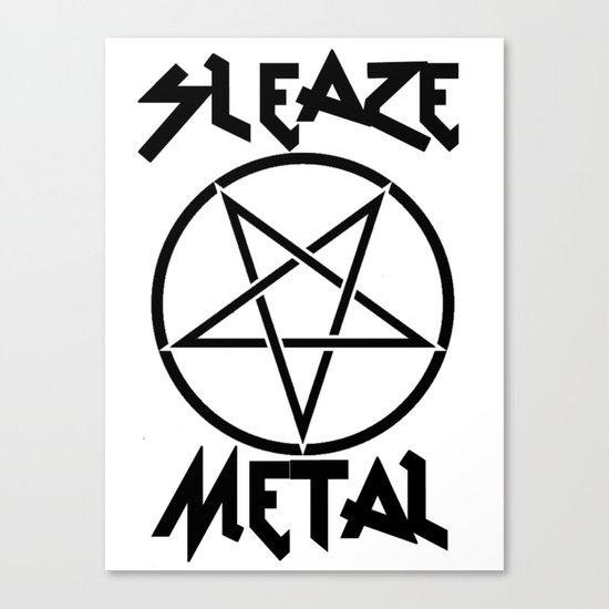 SLEAZE METAL Canvas Print