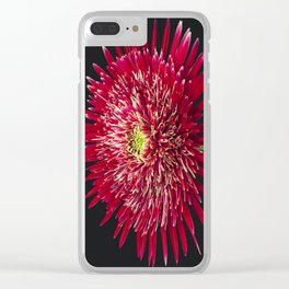 Red Gerbera large Clear iPhone Case