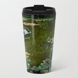Boat in Lily Pond, Giverny, France, 2015. Travel Mug