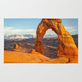 DELICATE ARCH SUNSET ARCHES NATIONAL PARK UTAH Rug
