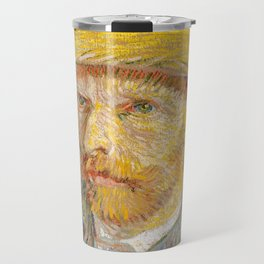 Vincent van Gogh - Self-Portrait with a Straw Hat - The Potato Peeler Travel Mug