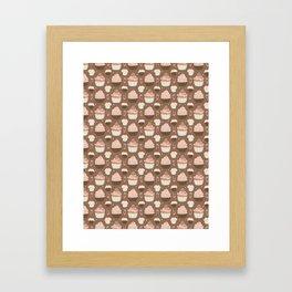 Elegant Cupcakes Food Vector Pattern Seamless Framed Art Print
