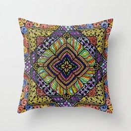 Family Mandala - מנדלה משפחה Throw Pillow