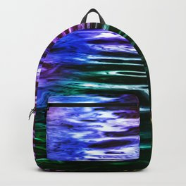 Lake Water Night Lights Reflection Texture Backpack