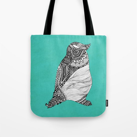 Tribal Penguin Tote Bag