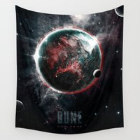 dune Wall Tapestries featuring Dune Geidi Prime Planet Poster by Barrett Biggers