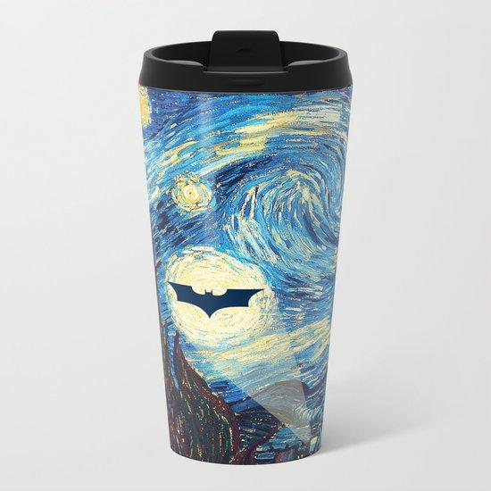 Starry Night Heroes Metal Travel Mug