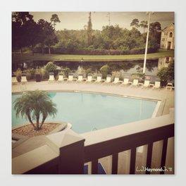 Balcony Pool View Canvas Print