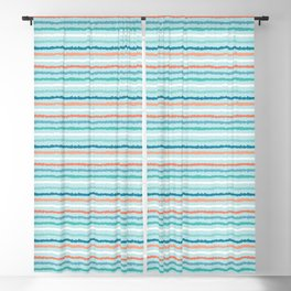 Hand drawn textured maritime stripes. Blackout Curtain