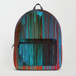 California Dreamin' - Abstract Glitch Pixel Art Backpack