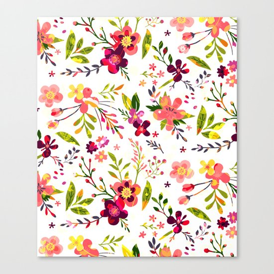 Colorful floral pattern  #society6 Canvas Print