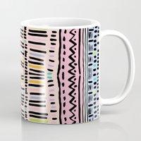 navajo Mugs featuring NAVAJO MOTIF  by Vasare Nar