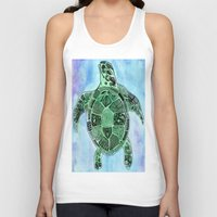 tatoo Tank Tops featuring Tatoo Sea Turtle by PepperDsArt