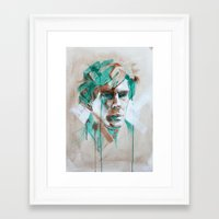 sherlock Framed Art Prints featuring Sherlock by Dan Olivier-Argyle