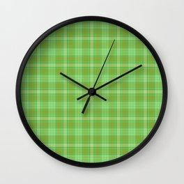 St. Patrick's Day Plaid Wall Clock