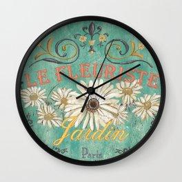 Le Marche Aux Fleurs 6 Wall Clock