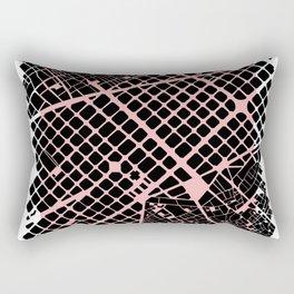 Barcelona map pink ext Rectangular Pillow