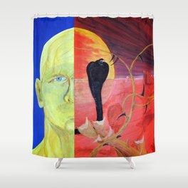 Nature_blue Shower Curtain