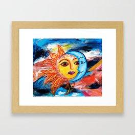 Sun and Moon United Framed Art Print