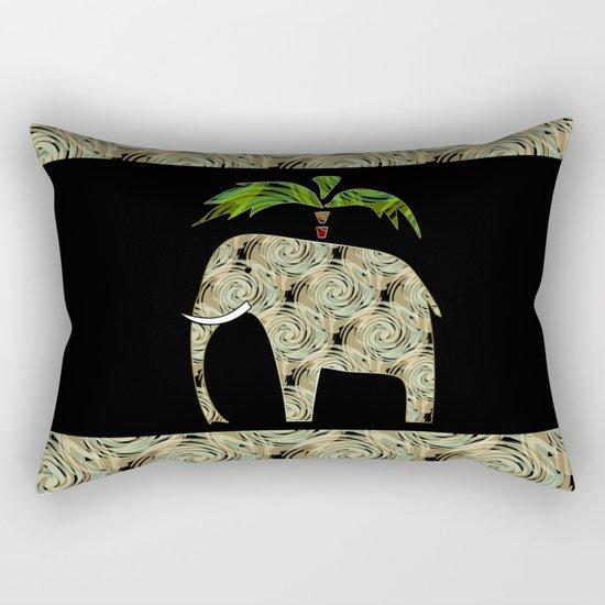 Elephant under a palm tree . Rectangular Pillow