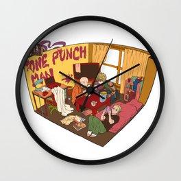 One Punch-Man Saitama's Room Wall Clock