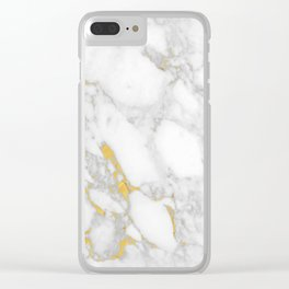 Marble Gold Session IV Clear iPhone Case