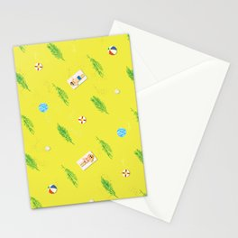 sunny beach pattern Stationery Cards