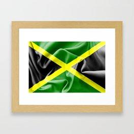 Jamaica Flag Framed Art Print