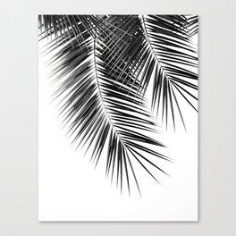 Black Palm Leaves Dream - Cali Summer Vibes #2 #tropical #decor #art #society6 Canvas Print