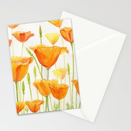 Blossom Poppies Stationery Cards