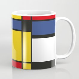 Downtown, Tribute to Mondrian Coffee Mug