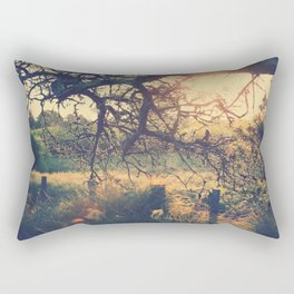 Gnarled old tree in the sun Rectangular Pillow