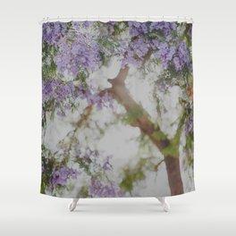 Purple Flowers Dream Shower Curtain