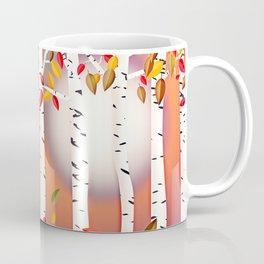 Autumn Birch Forest Coffee Mug