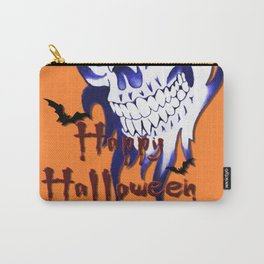Halloween Skull, happy Halloween, demonic face, ghost, spooky, horror artwork Carry-All Pouch