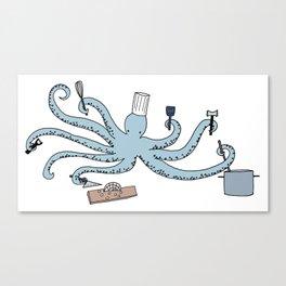 octopus chef Canvas Print