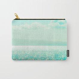 Winter Aqua Sparkling Seashore Carry-All Pouch