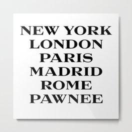 cities marfa fashion print Metal Print