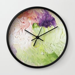 That One Pansy Wall Clock