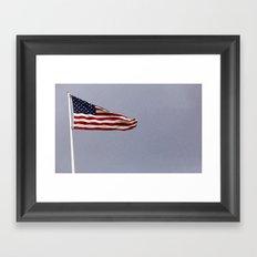 USA Flag Embassy Berlin Germany Framed Art Print