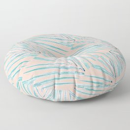 Palm Leaves Coral Floor Pillow
